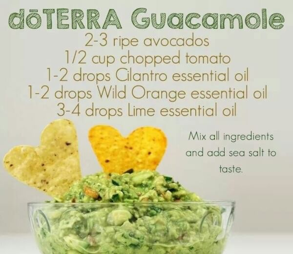 Who doesn't love guacamole?! 🥑 Not only are avocados good for you our essential oils add NATURAL flavor and such an easy super healthy snack✨