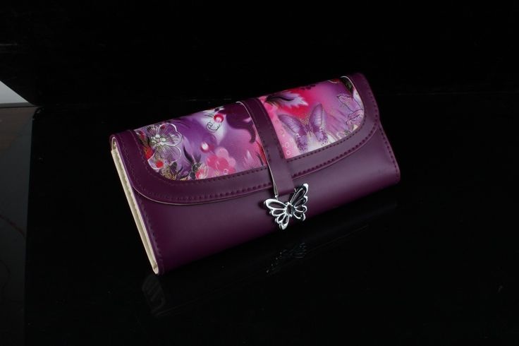 nieuwe mode kristal lange stijl handtas dame meisje portemonnee boog vlinder diamant vrouwen portemonnee $14.99 (free shipping)