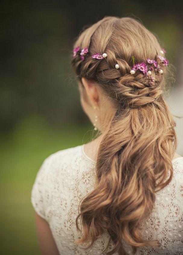 champêtre coiffure mariage