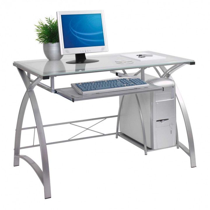 Glass Top Computer Desk Ikea Organizing Ideas For Desk