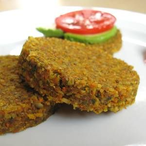 Raw Vegan Veggie Burgers: Almonds plus whatever other nuts and grains I have
