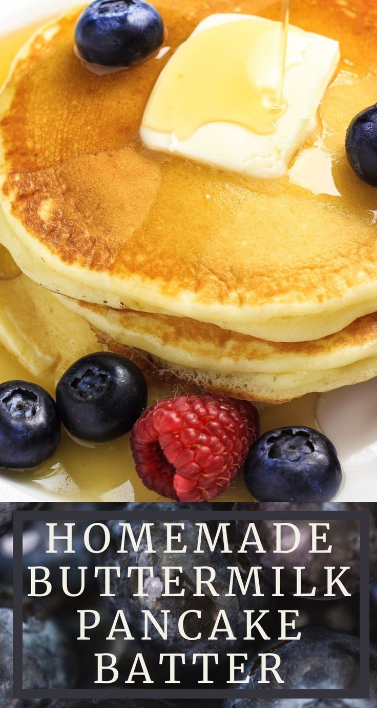 Homemade Buttermilk Pancake Batter Recipe In 2020 Pancake Batter Recipe Homemade Buttermilk Pancakes Homemade Buttermilk