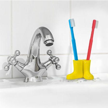 Porte brosse à dent bottes de pluie - 8,90€