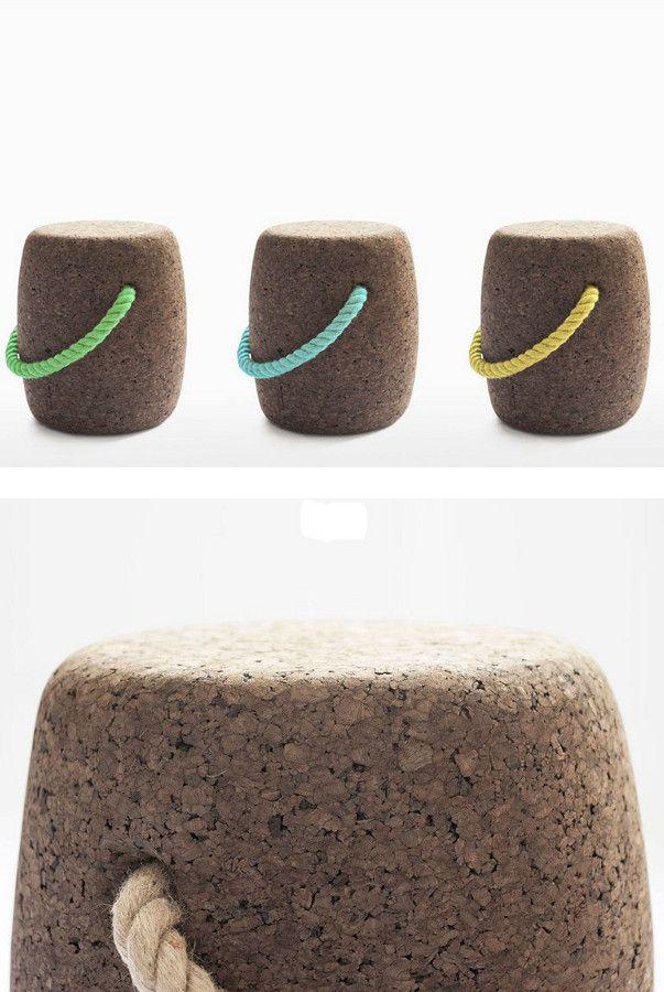 #cork stool / coffee table PIPO by DAM   #design DAM @damfurniture