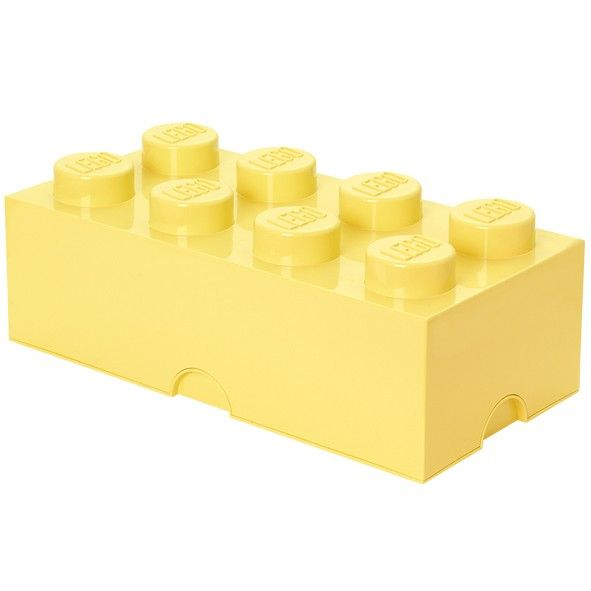 Lego Storage Box - 8 Studs - Cool Yellow