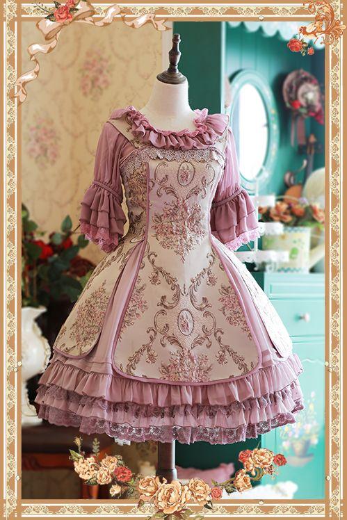 Infanta Windsor's Afternoon Tea Embroidery Lolita Dress JSK
