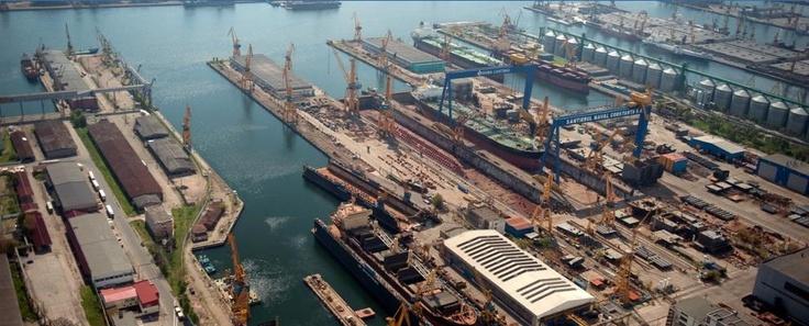 Drydocking facilities of Santierul Constanta Shipyard in Romania