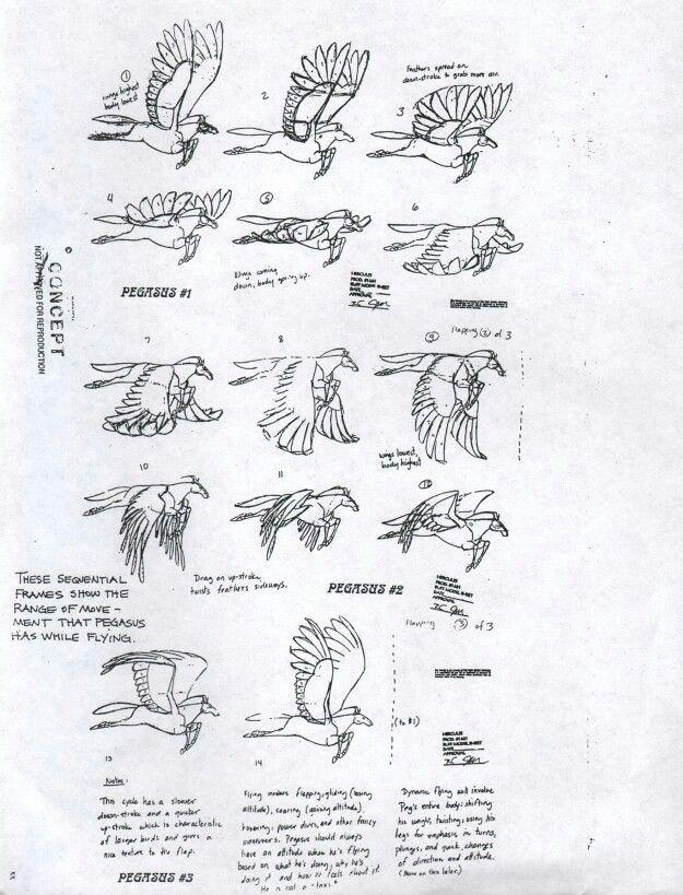Pegasus wing animation breakdown