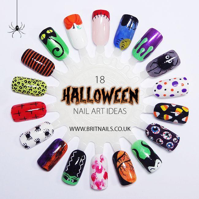 "britnails: "" 18 Easy Halloween Nail Art Ideas """