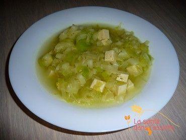 Soupe express poireaux