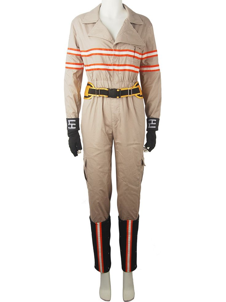 Movie Ghostbusters Jumpsuit Female Women Suit Outfit Halloween Cosplay Costume
