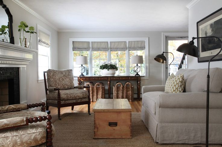 Transitional living room by kelly mcguill homewall paint - Salones modernos pequenos ...