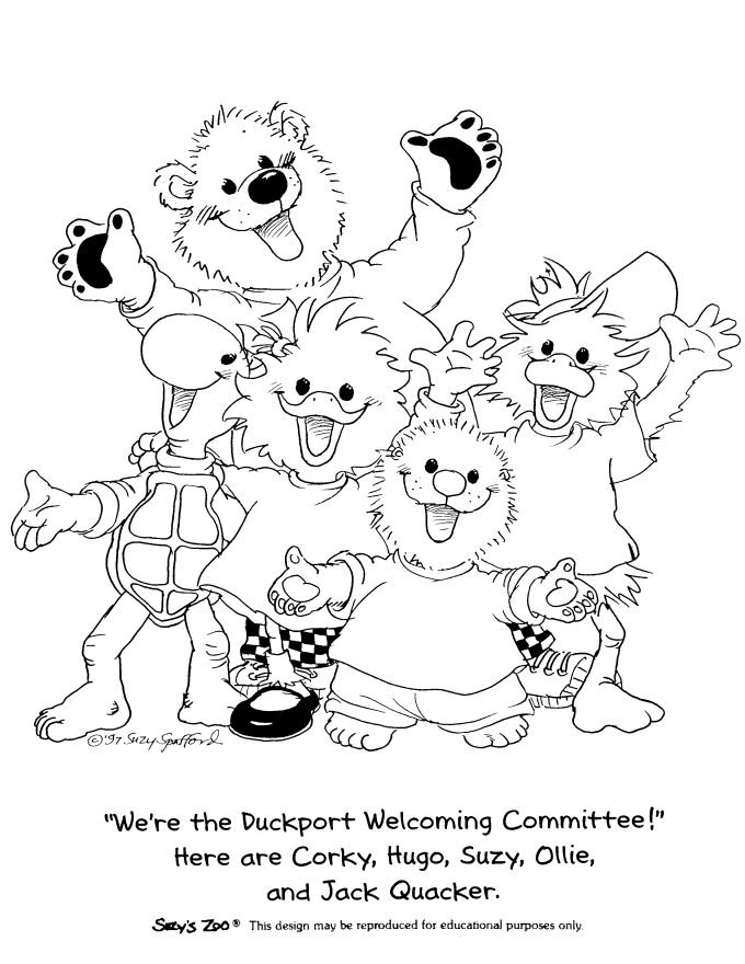 suzys zoo - Suzy Zoo Coloring Pages Printable