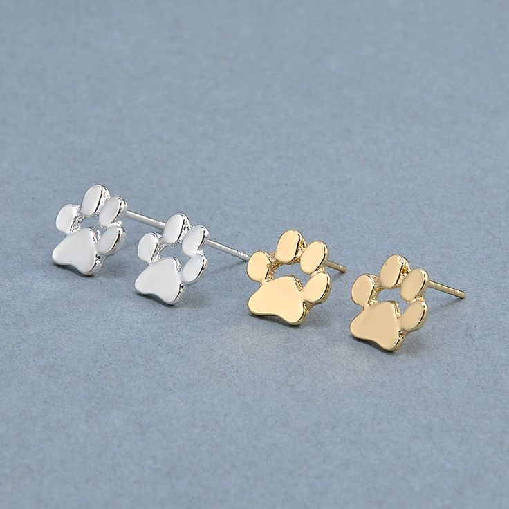 Cute Cat and Dog Pow Stud Earrings Ear Jewelry Earrings For Women Fashion Statement Jewelry Gifts Free shipping