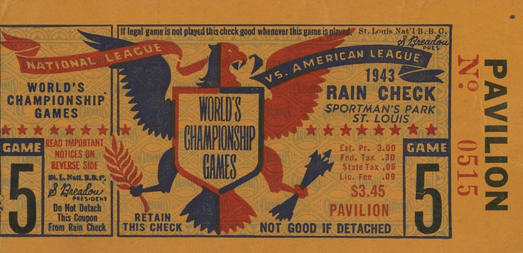 Invitations de baseball de Cleveland Indians vintage