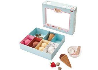 prachtige ijswinkel met stoffen ijsjes Haba | kinderen-shop Kleine Zebra