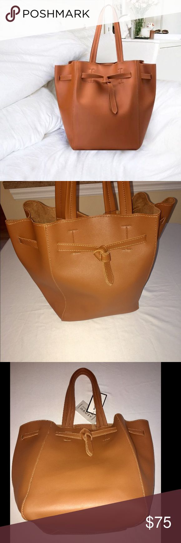 Melie Bianco Tan Handbag with Extra Bag Detachable New with tags Melie Bianco Bags Totes