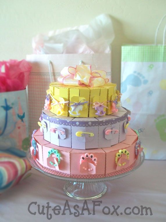 Baby Shower Cake Box