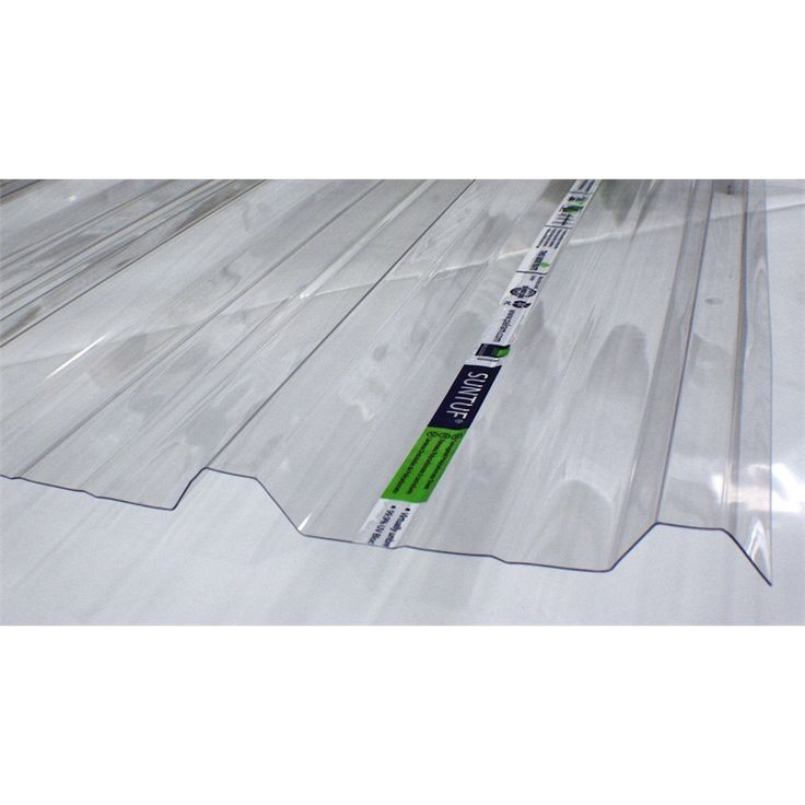 Suntuf 2.4m Trimdeck Polycarb Roofing Clear Industrial TC2.4/.8 I/N 1010585 | Bunnings Warehouse
