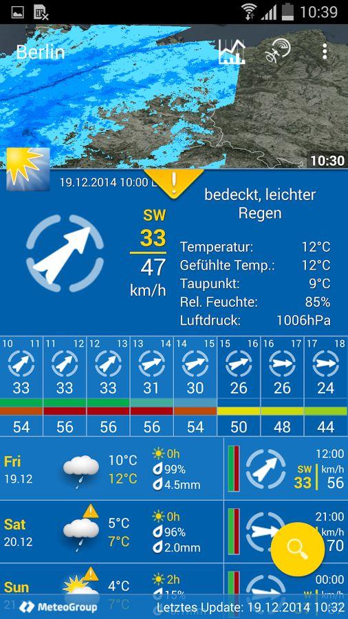 WeatherPro - 1a programmierte App, manchmal hat aber für Österreich Bergfex Wetter die besseren Vorhersagen.