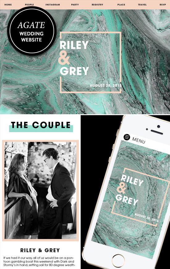 Agate Inspired Wedding Websites From Rileyandgrey