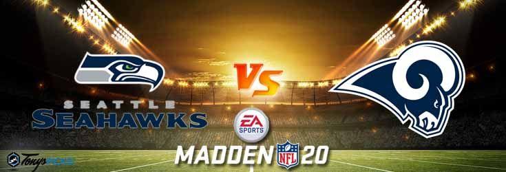 Seattle Seahawks Vs Los Angeles Rams Nfl Madden 20 Sim 6 5 2020 Picks Predictions Previews In 2020 Nfl Los Angeles Rams College Football Picks