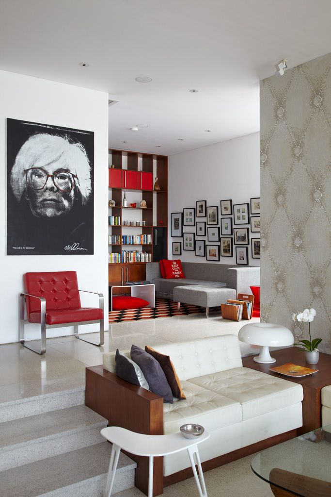 Study, Luna2 private hotel, Bali. Interior design by Melanie Hall.  #interiordesign #popart #andywarhol #melaniehalldesign
