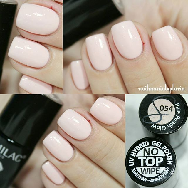 Semilac 054 Pale Peach Glow ♥ #nailmaniabydaria #semilac #semilacpalepachglow #ilovesemilac #nails #paznokcie #nailstagram #instanails #manicurehybrydowy #gelpolish #naillove #instanails #semilacnails
