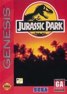 Jurassic Park Sega Genesis Game Cartridge | DKOldies.