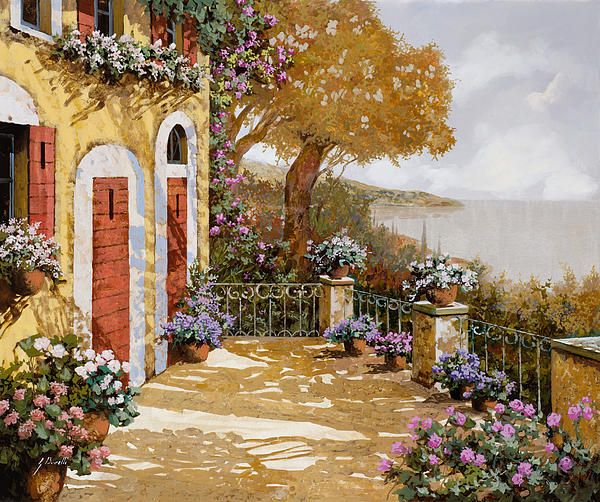 Altre Porte Rosse by Guido Borelli - Altre Porte Rosse Painting - Altre Porte Rosse Fine Art Prints and Posters for Sale