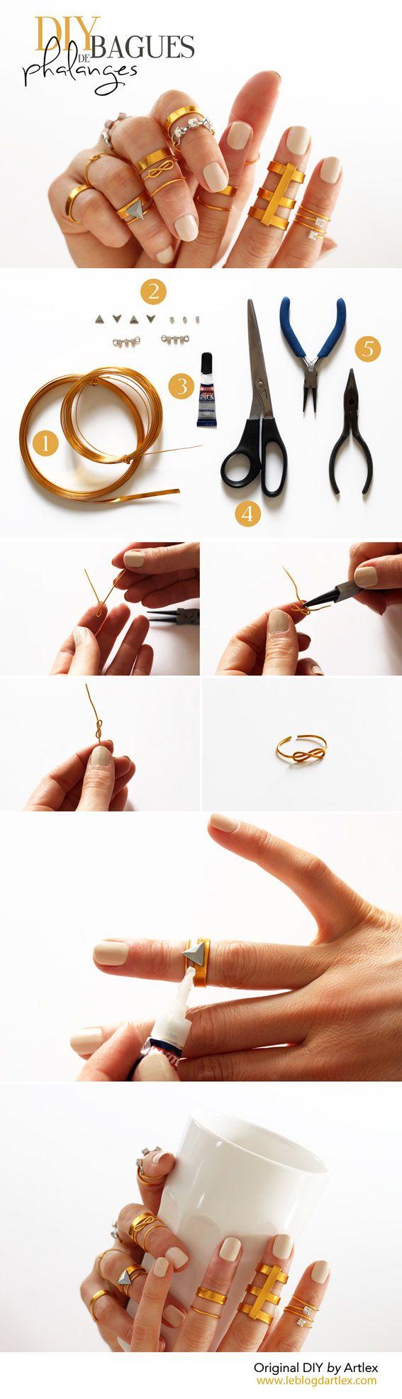 Gold rings DIY // DIY bagues dorées // Blog mode et DIY Artlex