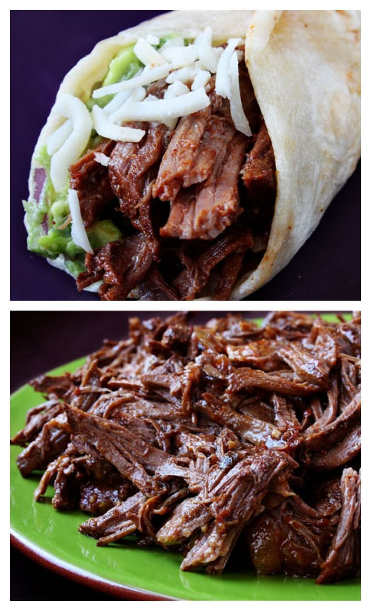 Slow Cooker Shredded Beef Tacos -- I'll take these any day over chipotle.  Easy to make, full of amazing flavor, and this shredded beef is great for leftovers! http://gimmesomeoven.com #mexican #beef