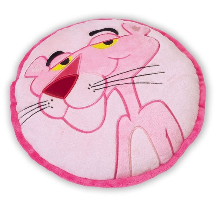 Coussin Rond Panthere Rose