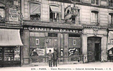 Cabaret d' Aristide Bruant ( auparavant 1er cabaret de Chat Noir ) Montmartre
