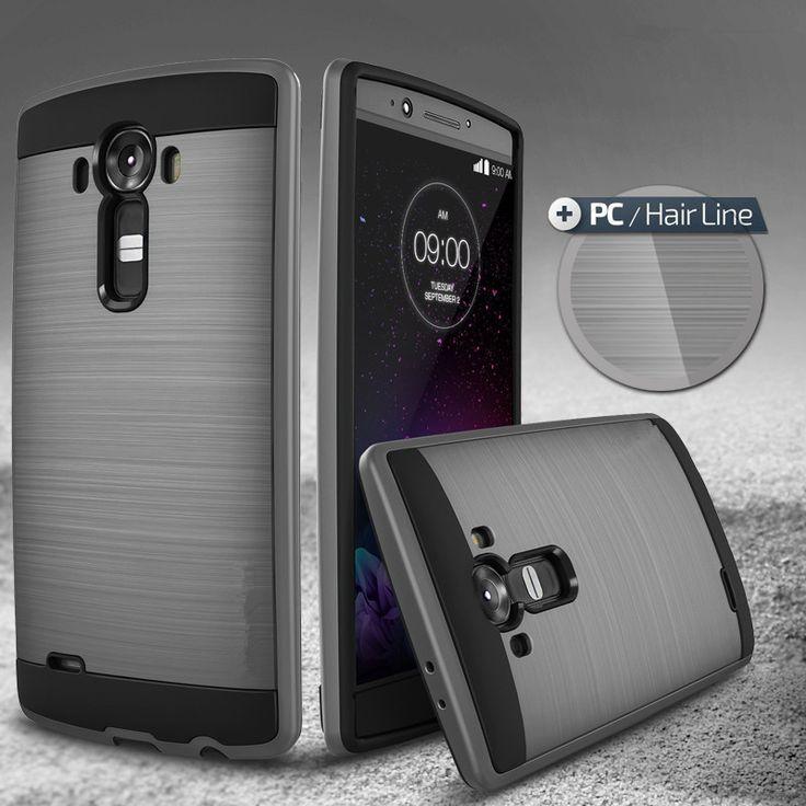 NOUVEAU! Vente chaude Dur Slim Brossé Caisse D'armure pour LG G4 De Luxe hybride En Plastique Dur + Tpu Antichoc Couverture Arrière pour LG G 4
