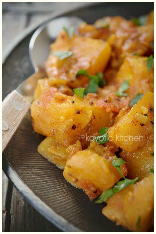 Ingredients:3 pounds potatoes1 medium onion4 tomatoes2 tsp mustard seeds1 tsp ground ginger1 tsp garam masala1 1/2 tsp turmeric1/2 tsp ground cumin1/2 tsp chili powder1/4 tsp dried chili flakes3 tb…