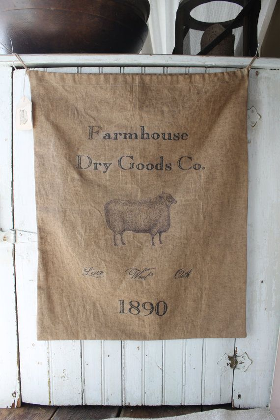 Vintage Grain Sack Reproduction by 1871Farmhouse on Etsy, $35.00