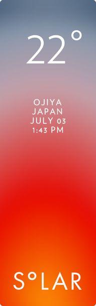 魚沼市 weather has never been cooler. Solar for iOS.