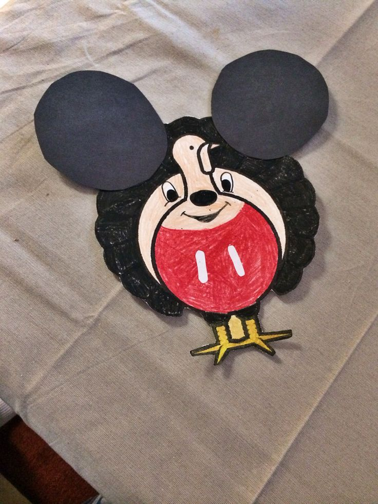 No turkey here! Just a one Mr.Mickey Mouse. :) :) how to disguise a turkey for 2nd grade.