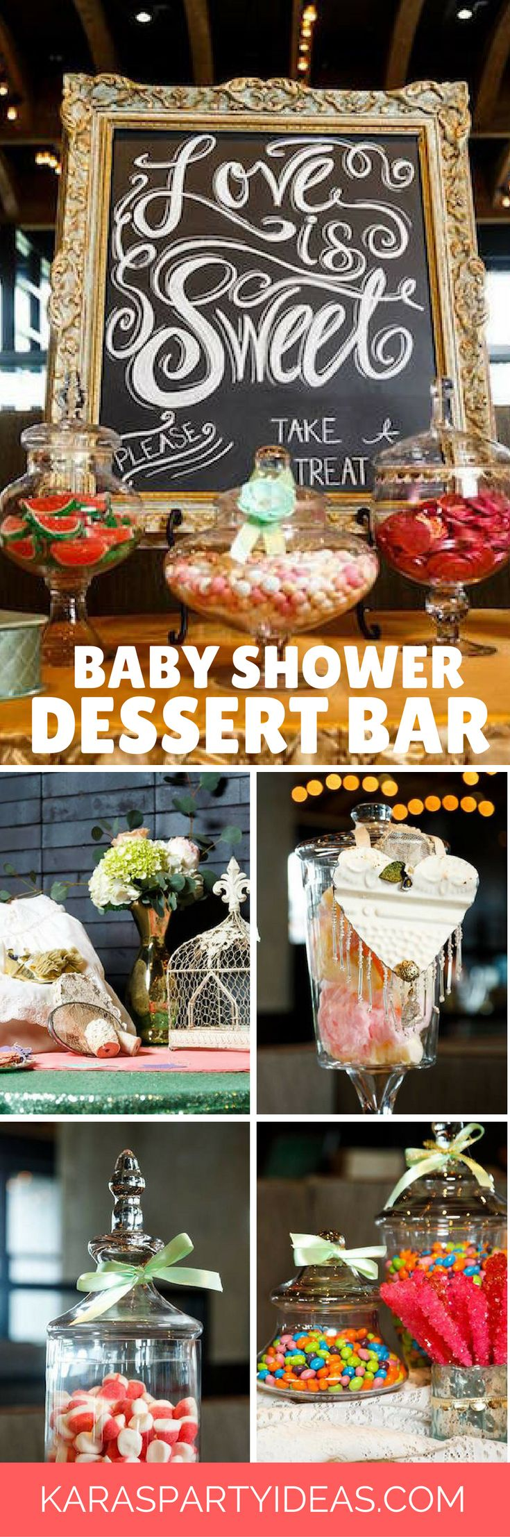 From kara s party ideas rustic dessert table display designed by - Love Is Sweet Baby Shower Dessert Bar Via Kara S Party Ideas Karaspartyideas Com