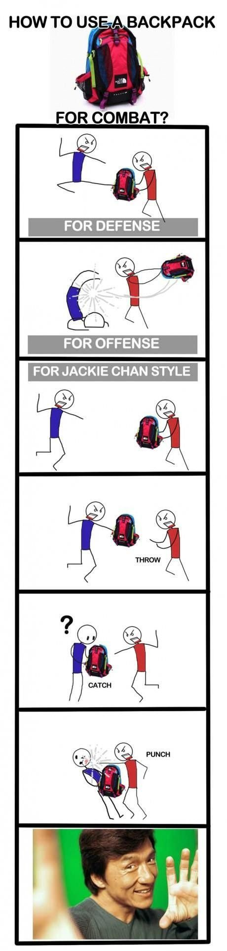 How To Use Your Backpack For Self Defense haha