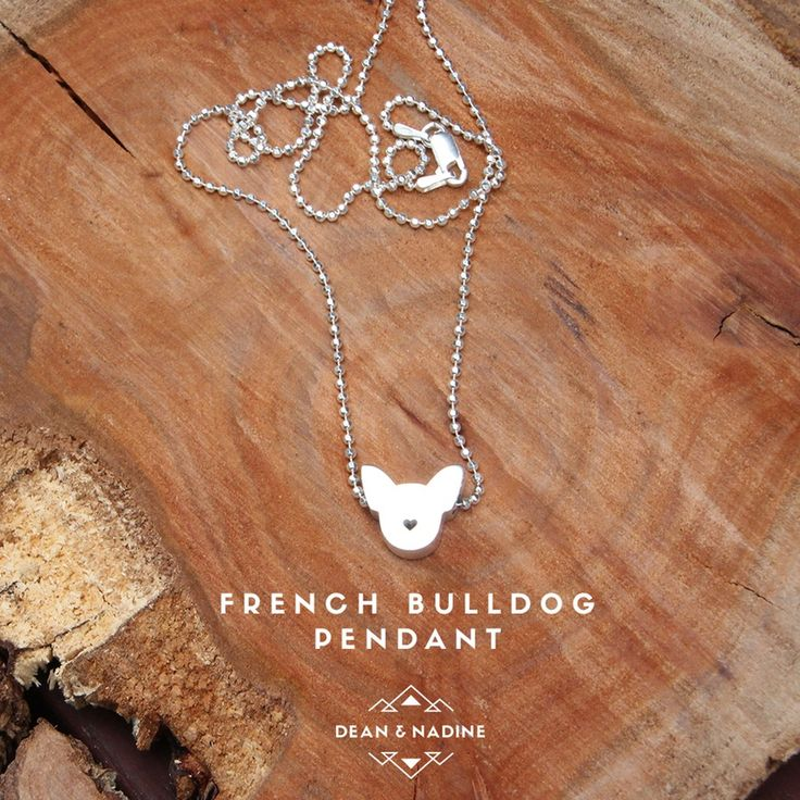 Image of French bulldog - Sterling silver pendant