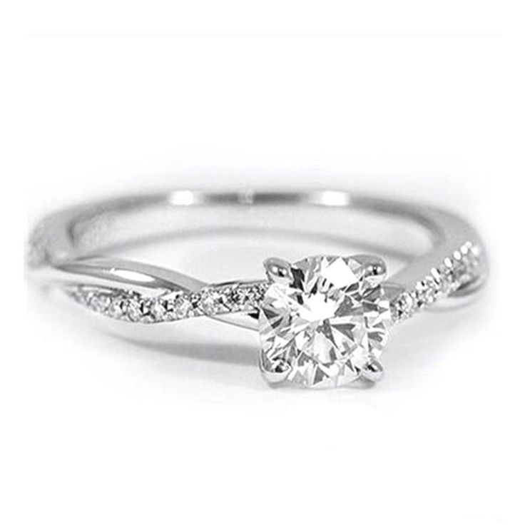 Charm Engagement Silver For Cubic Wedding Ring Jewelry Rings Zircon