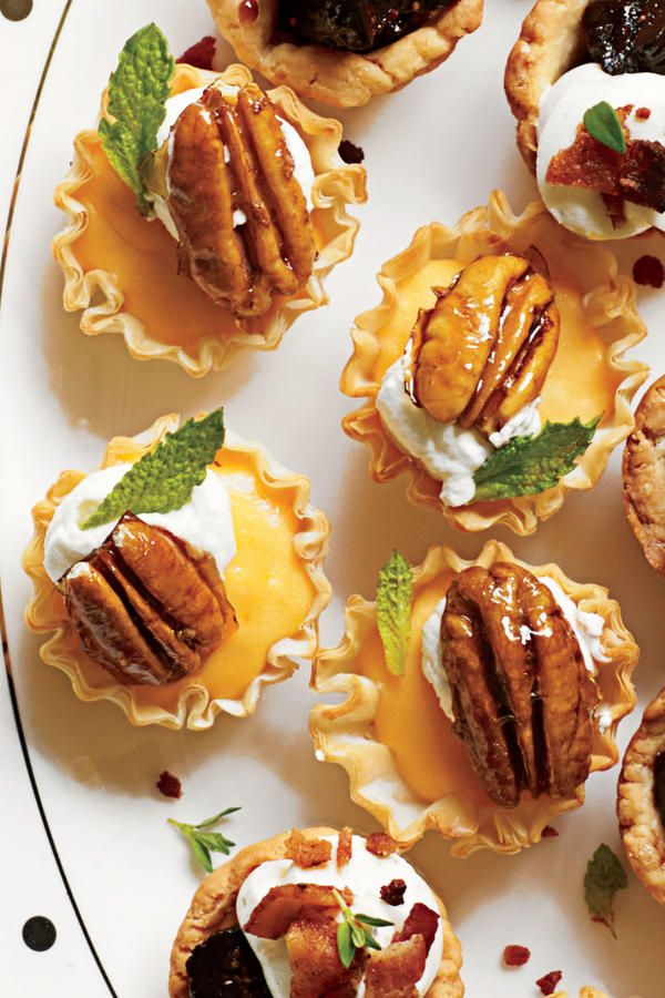 New Year's Eve Appetizers: Sweet Potato Tartlets