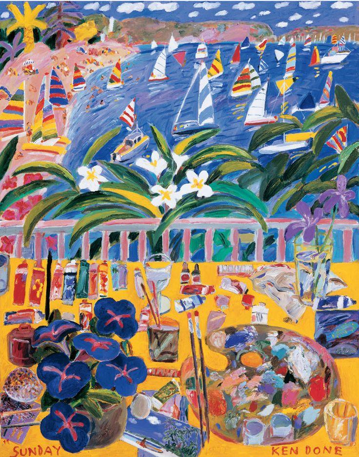 Ken Done - art / current exhibition / gallery / sunday-1982
