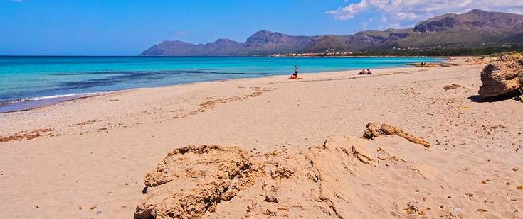 Son Serra de Marina and its beautiful beach, not far away from Bahia Sant Pere - New development by Taylor Wimpey Spain with 2 and 3 bedroom apartments, and communal pool and gardens.