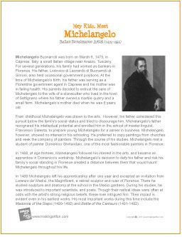Michelangelo | Printable Biography