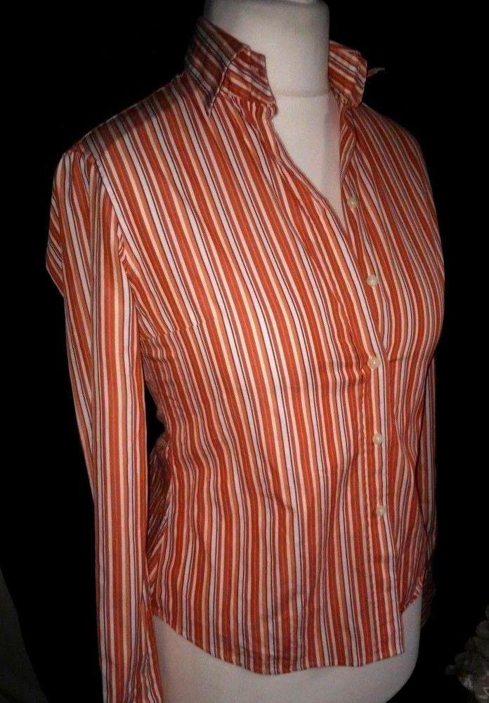 MASSIMO DUTTI WOMAN Striped long sleeve blouse  SIZE 38  ,M #MassimoDutti #Shirt #Casual