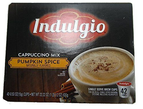 Indulgio Cappuccino Mix Pumpkin Spice K-Cup 42 Count *** Check this awesome image  : K Cups