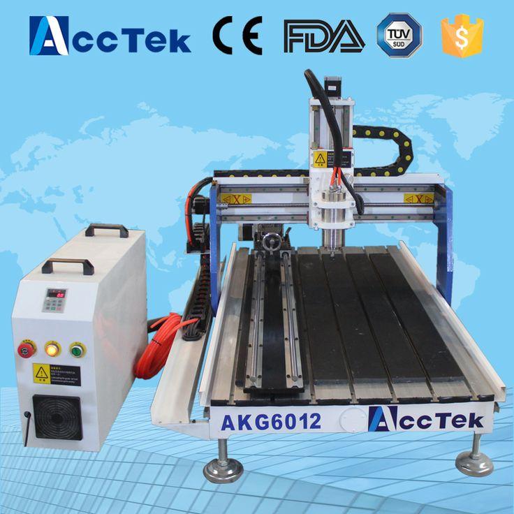 Acctek mini multipurpose cnc machine AKG6090/6012 for wood ,stone ,metal/high precision mini cnc machine